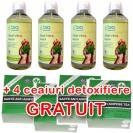 Aloe Vera Integral Pachet 4 buc + 4 Ceaiuri Detoxifiere GRATUITE